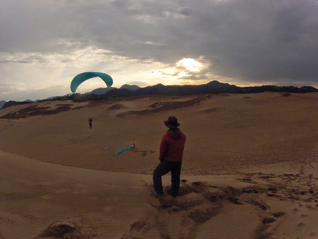 余裕で砂丘の空を感じて