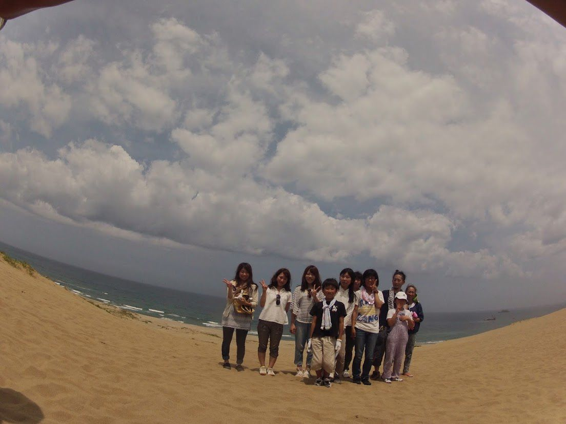 砂丘パラグライダー真夏