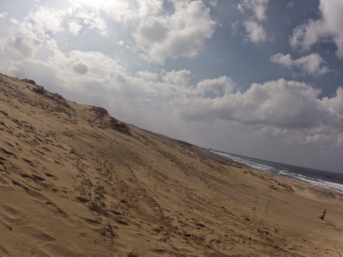 晴れ渡った鳥取砂丘