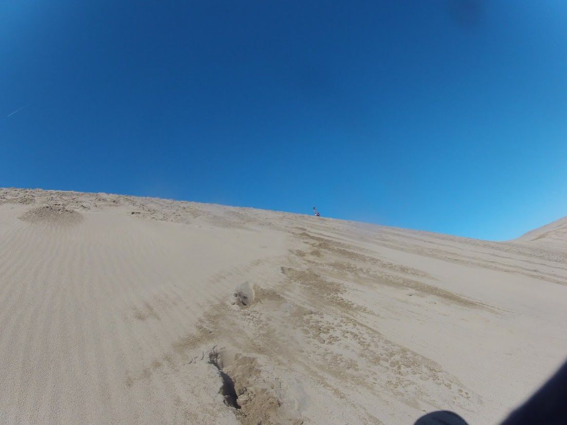 澄み切った青空の鳥取砂丘