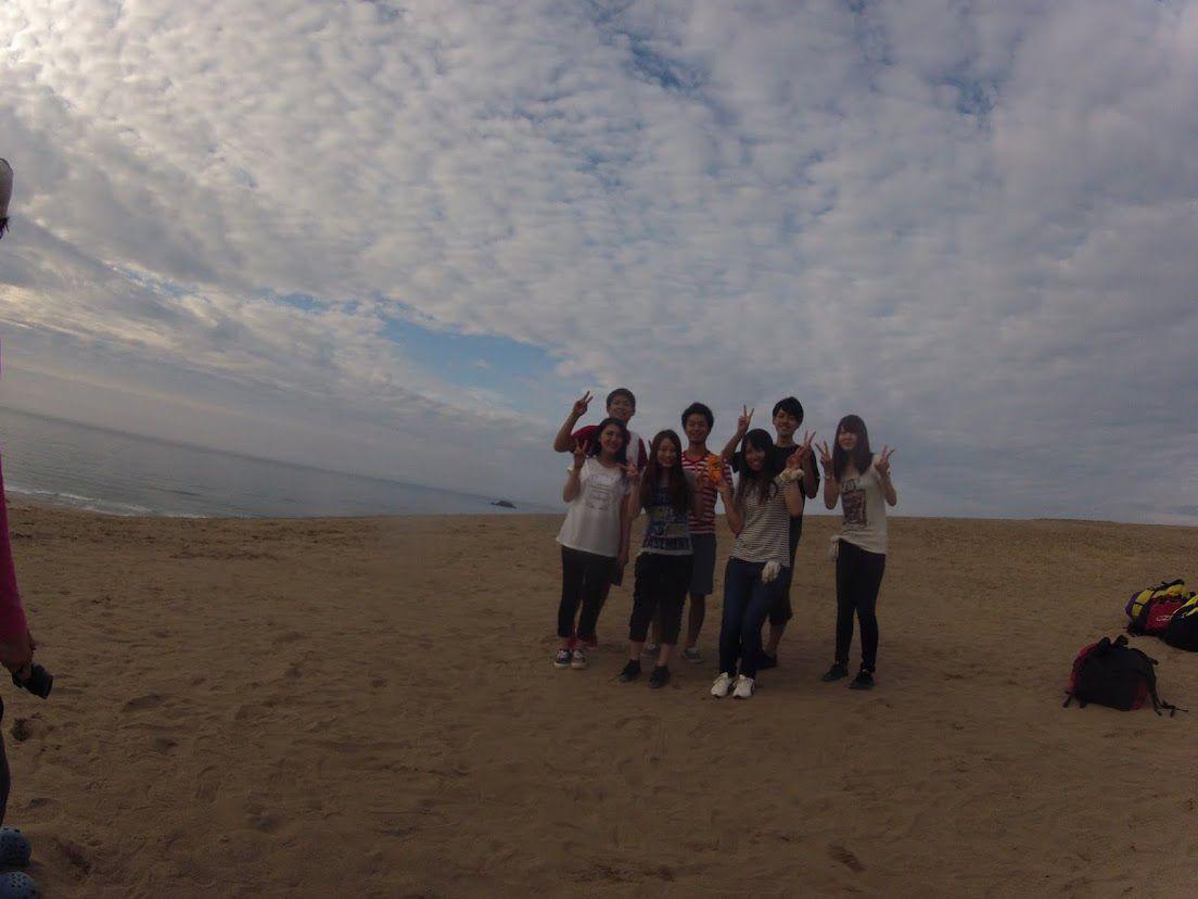 大阪から学生グループ