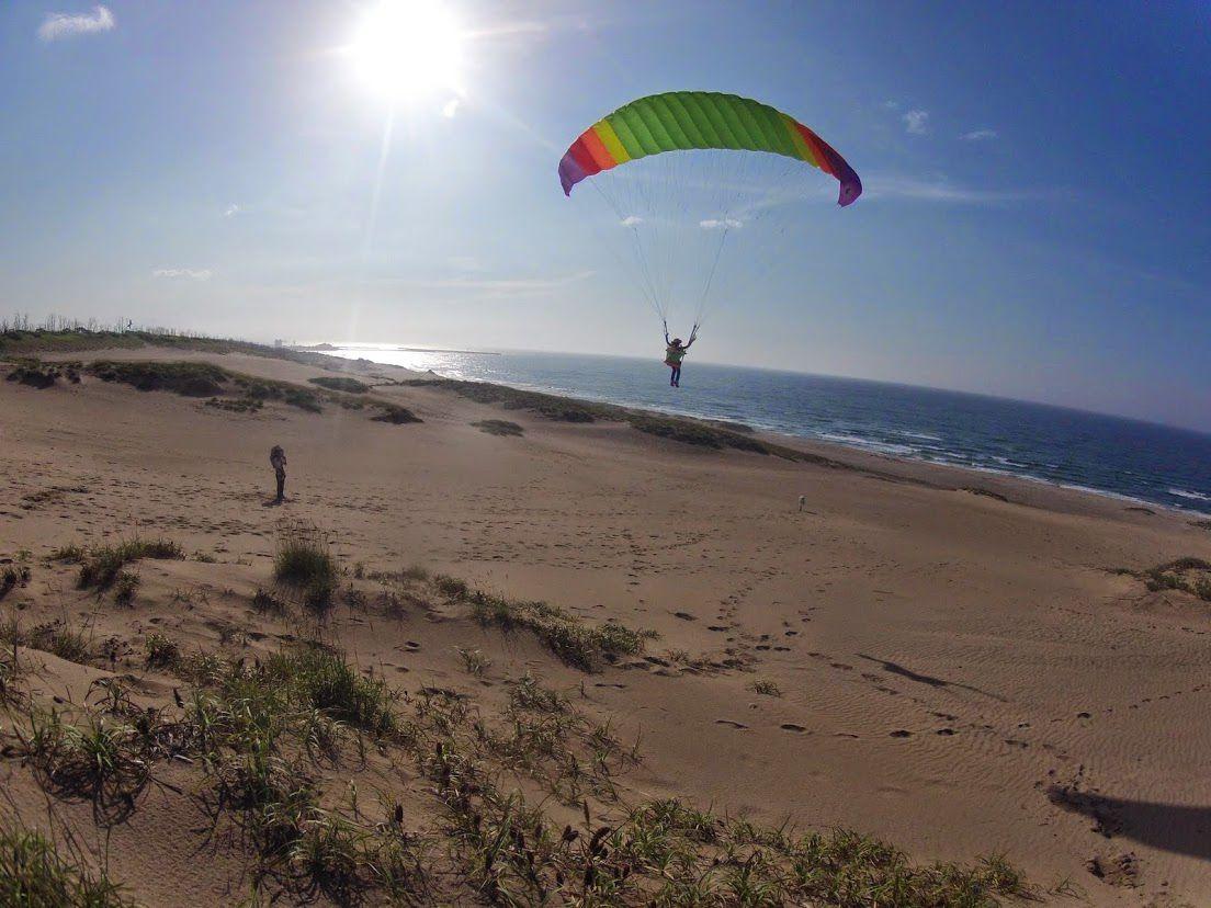 ソロフライトパラグライダー砂丘