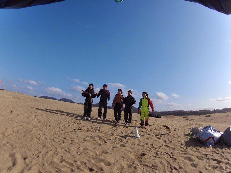 春休み鳥取砂丘パラグライダー