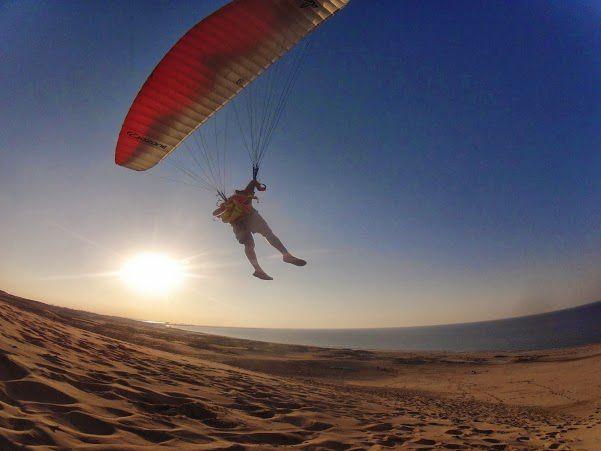 サンセット 砂丘パラグライダー