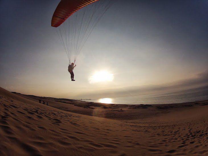 夕日砂丘パラグライダー