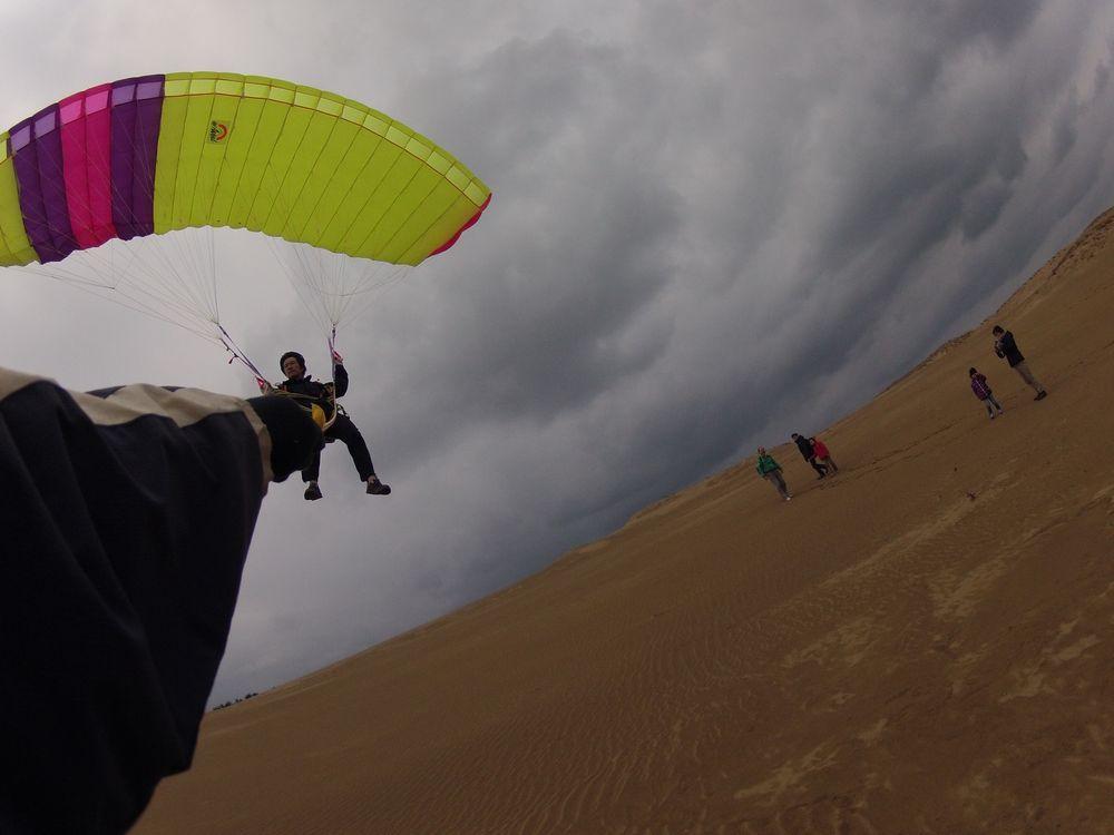愛媛松山から鳥取砂丘パラグライダー体験
