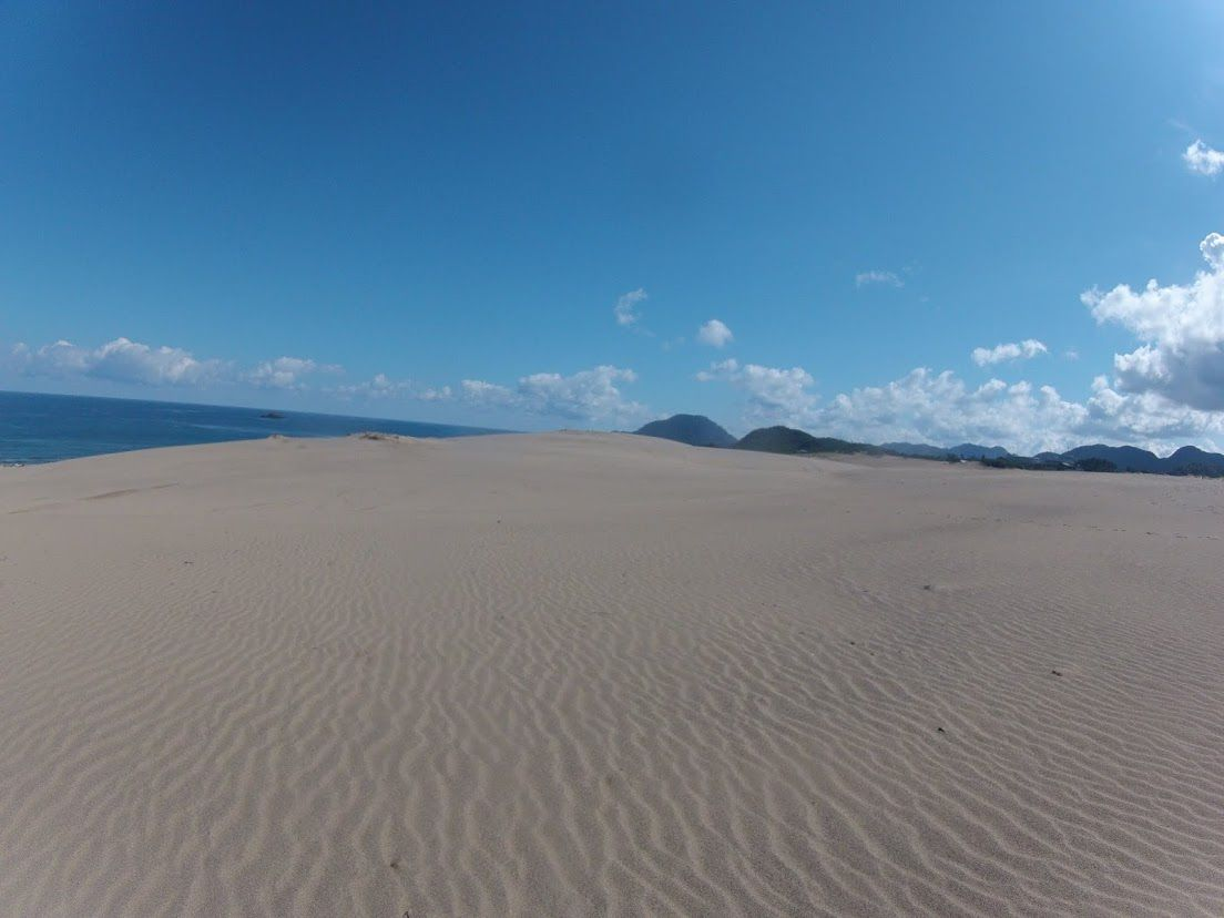 風が吹き抜けた鳥取砂丘