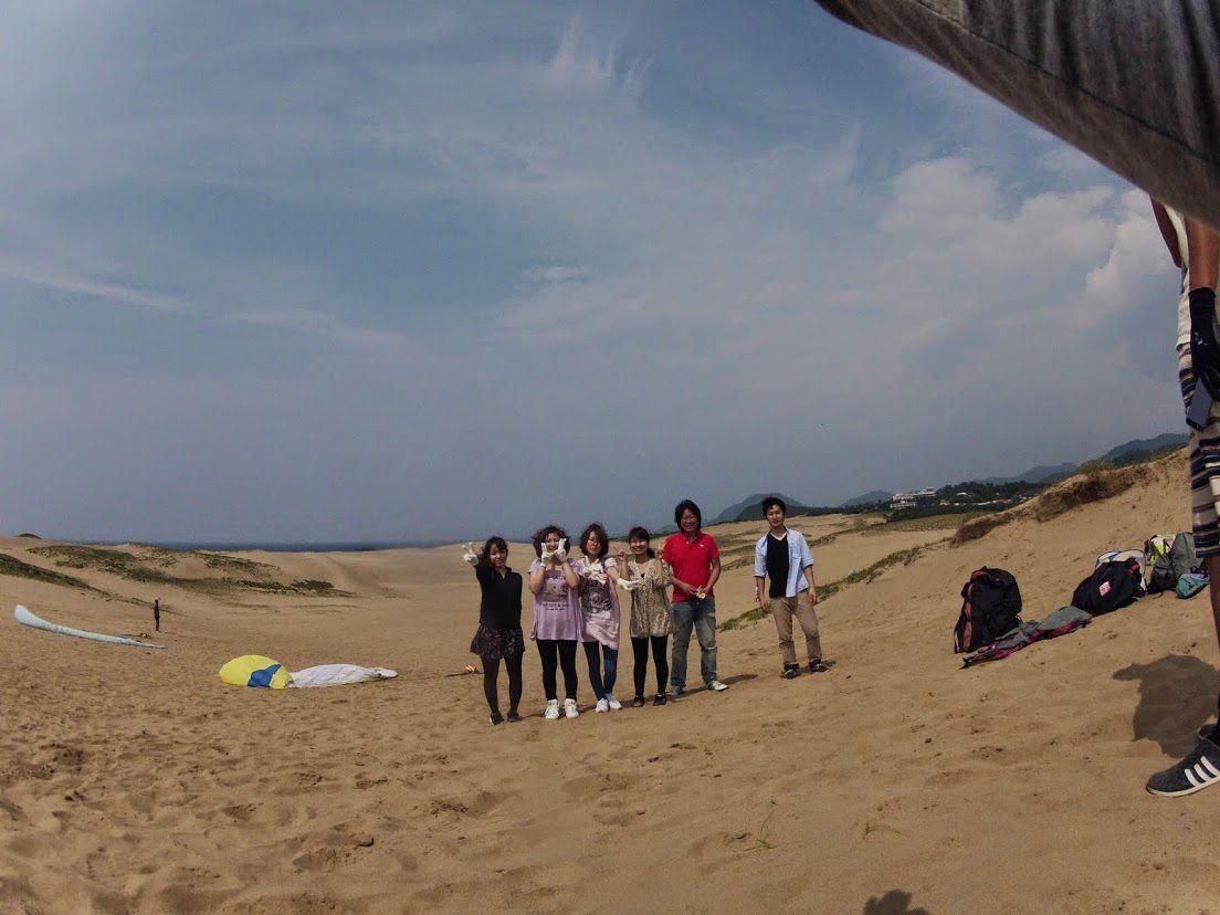 トーイングパラグライダー砂丘