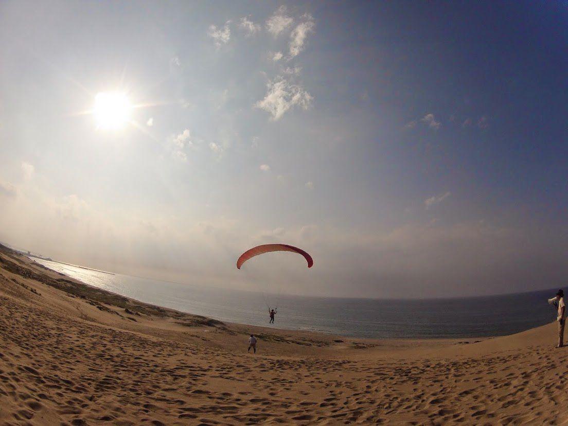 段差を越える大きなフライト鳥取砂丘