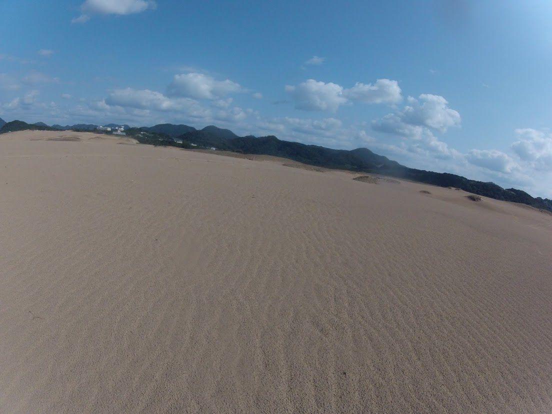 清々しい空気が広がる鳥取砂丘