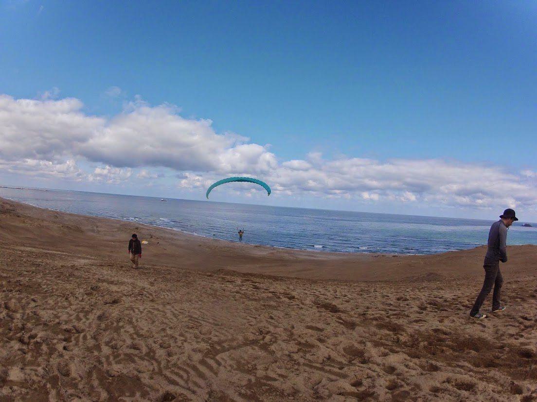 海に向かっても爽快に飛べました