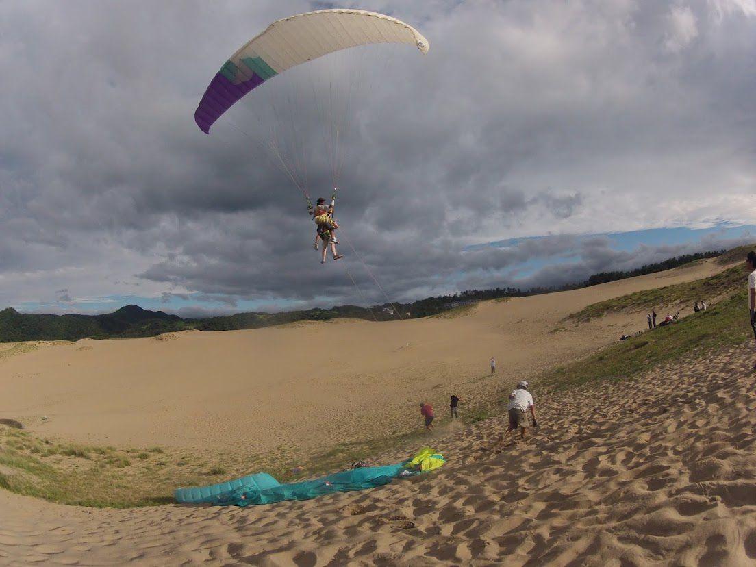 砂丘パラグライダートーイング