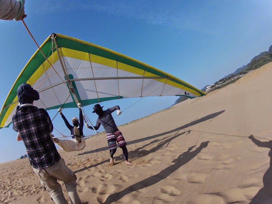 砂丘ハンググライダー西アフリカ