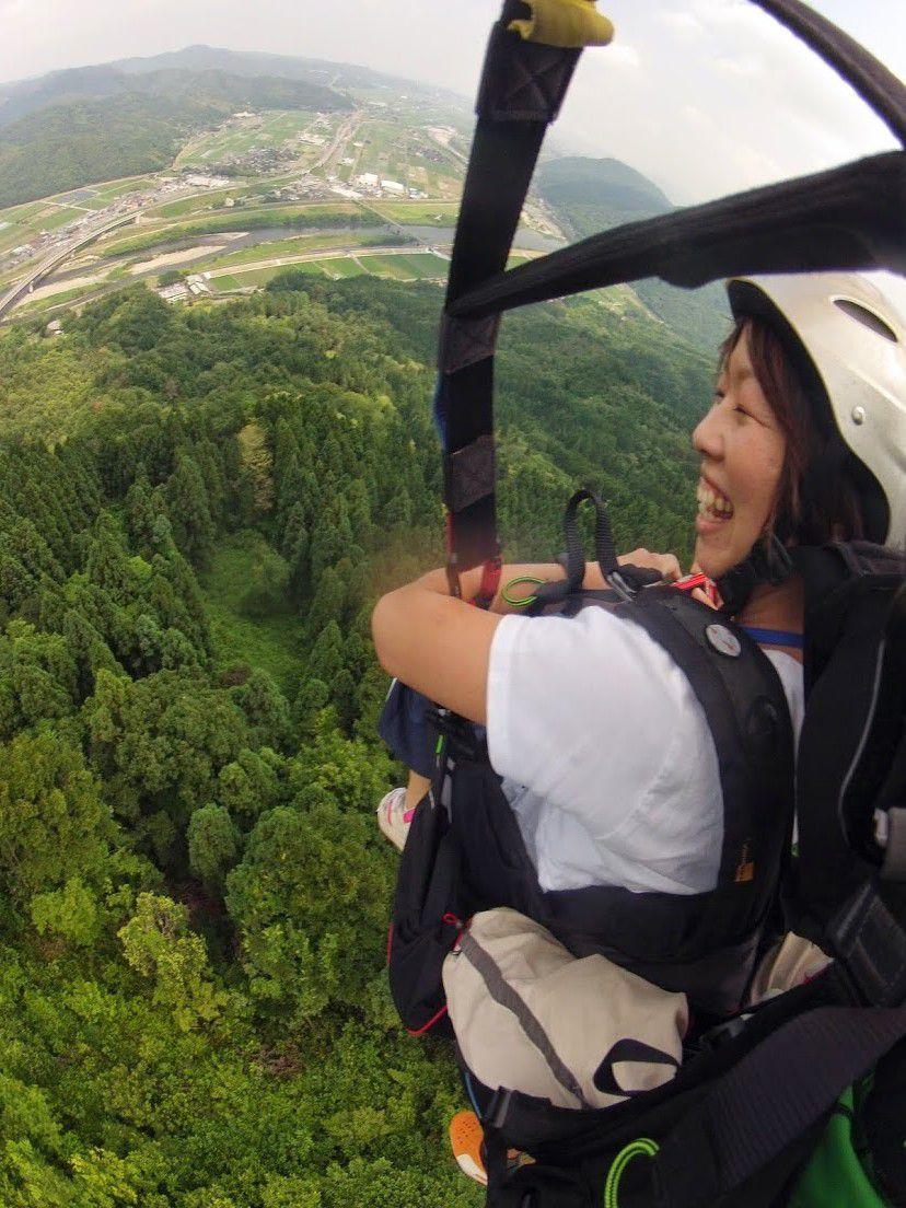 霊石山タンデムパラグライダー