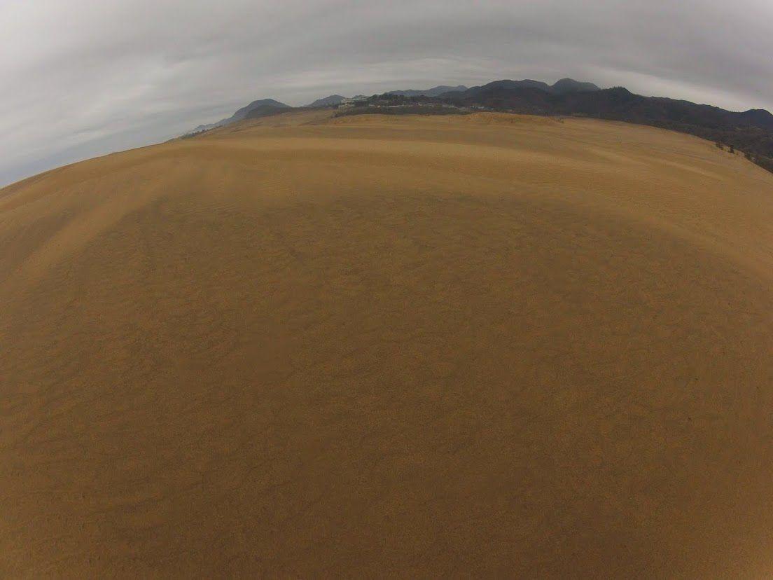 怪しい空模様が広がる鳥取砂丘