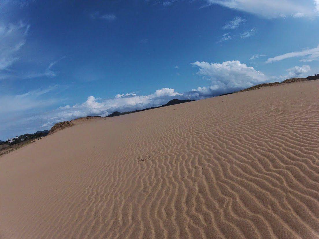 明るい空鳥取砂丘