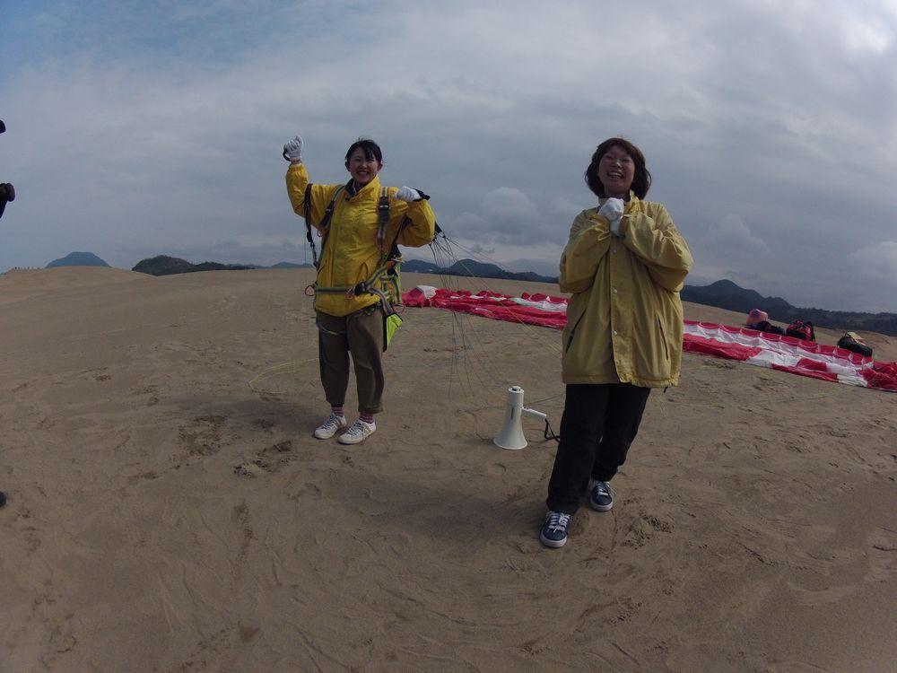 島根は出雲から鳥取砂丘パラグライダー体験