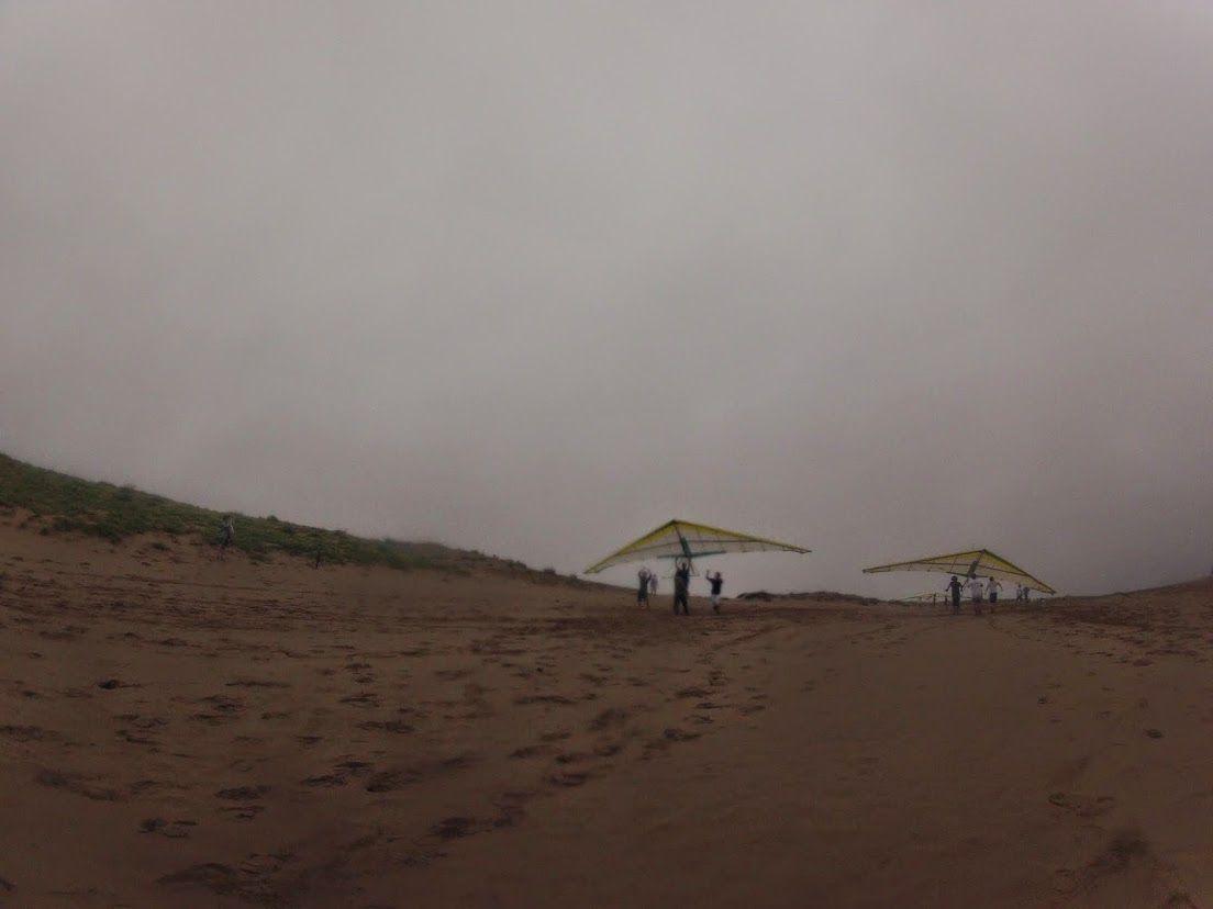 雨のハンググライダー