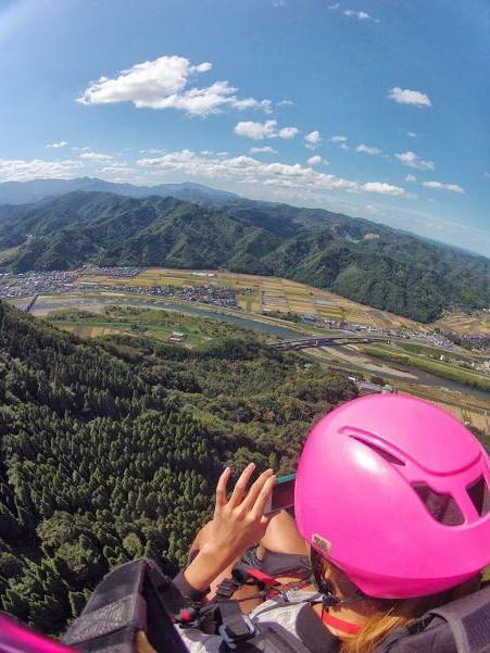タンデムパラグライダー 霊石山