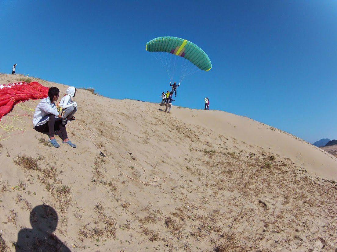 砂丘パラグライダー誕生日