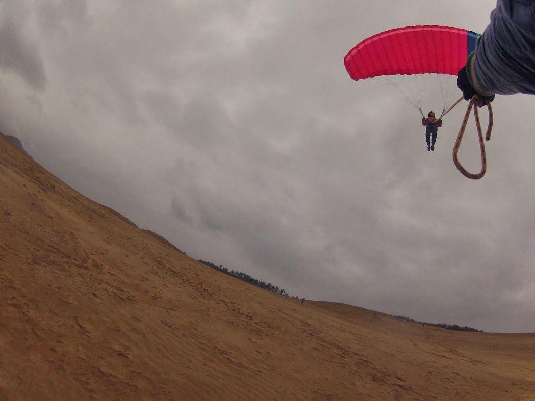 砂丘パラグライダー鳥取