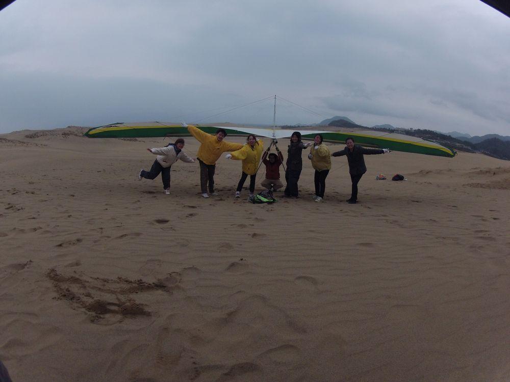アルバイト仲間グループで鳥取砂丘の観光へ