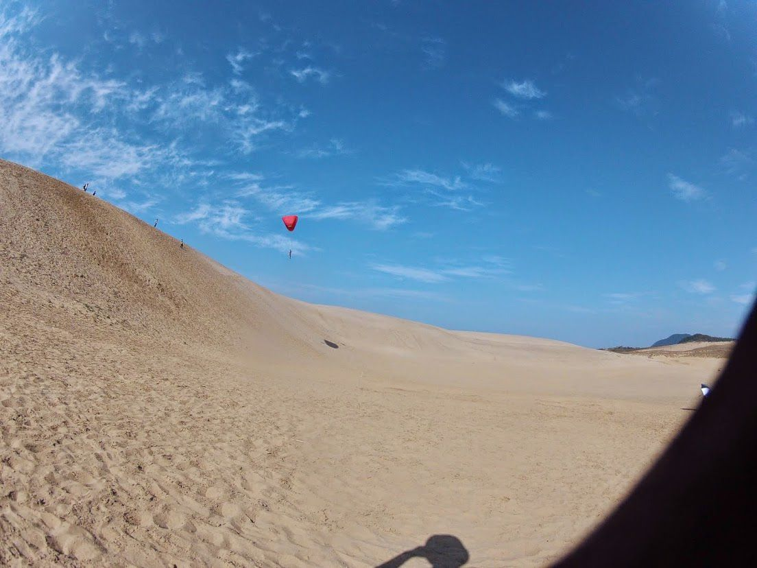 砂丘パラ日本海