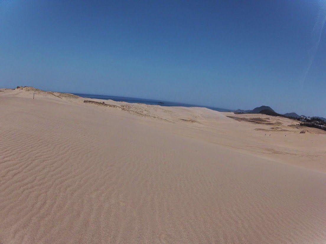 お日さまを拝めた鳥取砂丘