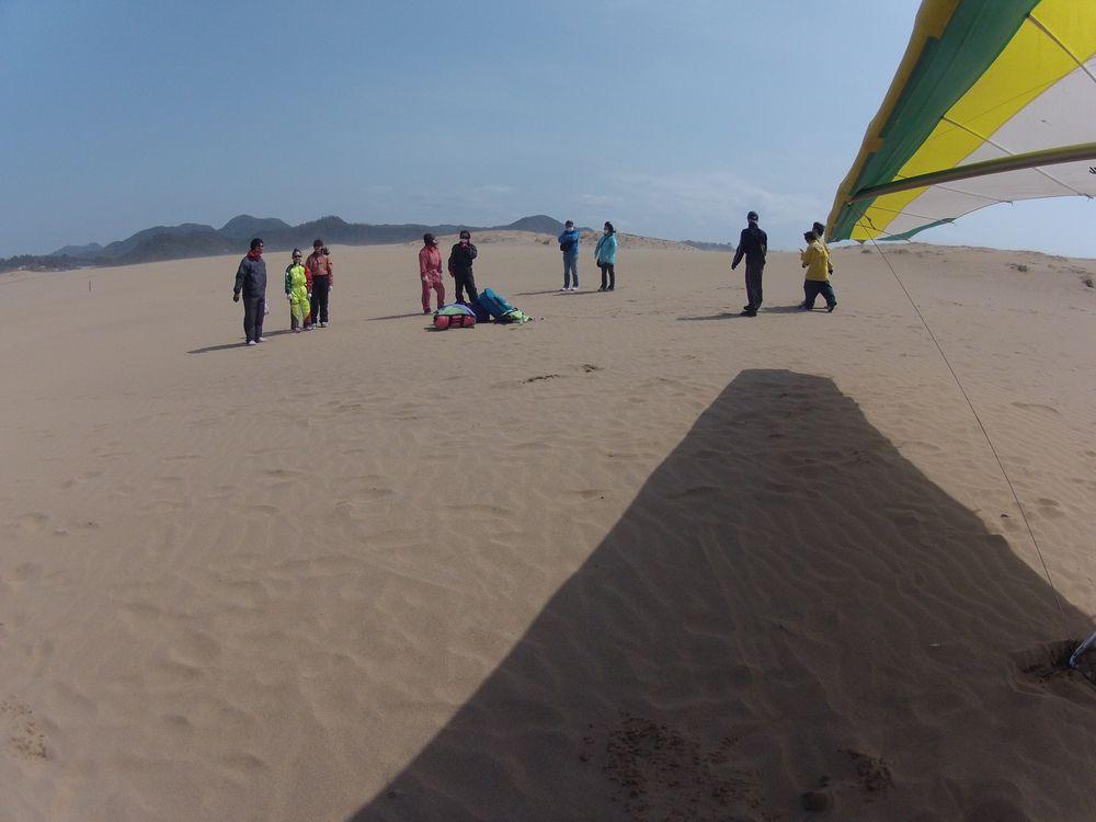 想像以上に風が強かった鳥取砂丘