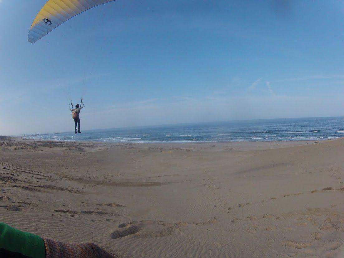 海へ向かってのフライト