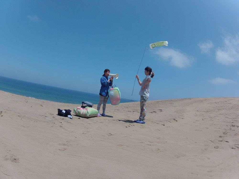 鳥取砂丘でたっぷり遊びました♪