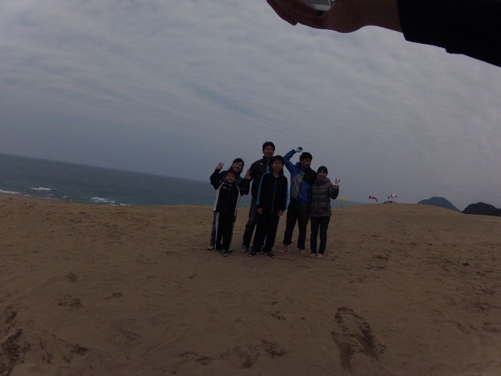 優しい風に恵まれて飛びやすかった鳥取砂丘