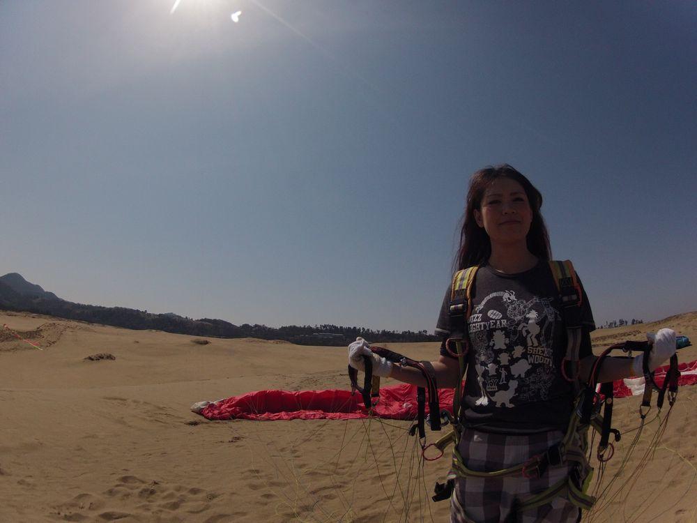 東京から一人旅で鳥取砂丘のパラグライダーにチャレンジ