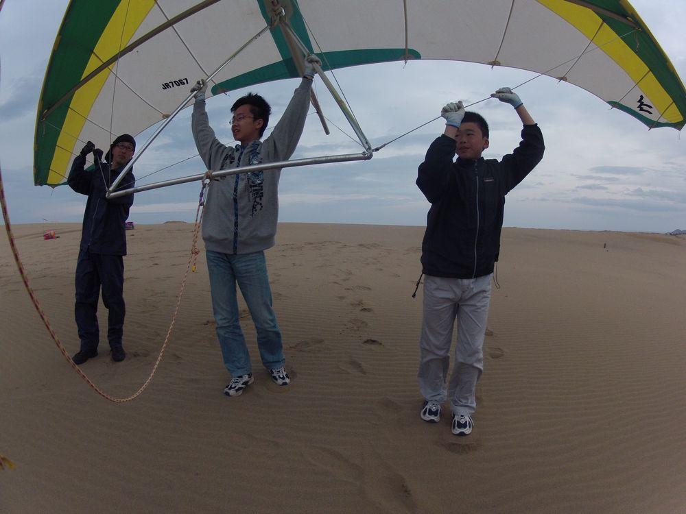 広島から鳥取砂丘のハンググライダーに挑戦の兄弟