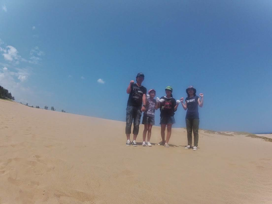 パラグライダー砂丘