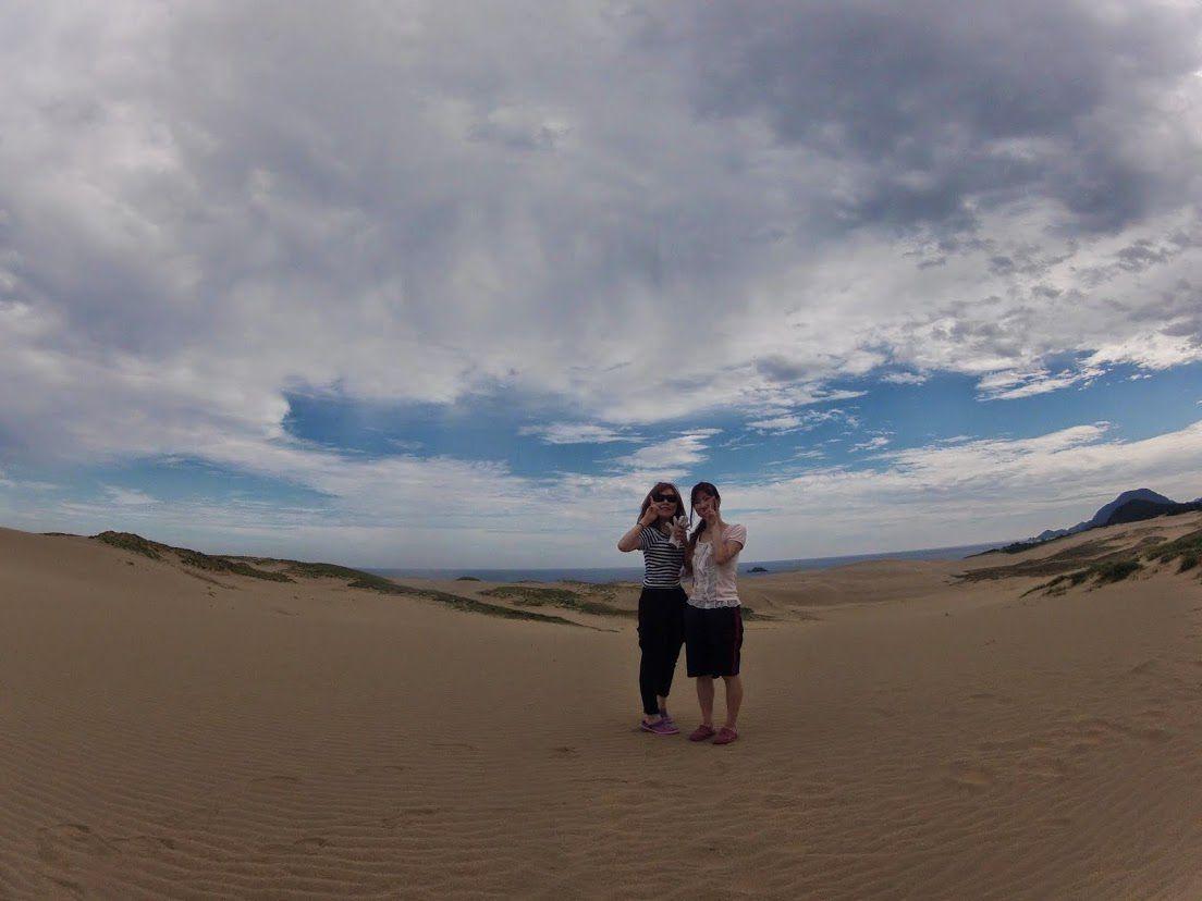 台風鳥取砂丘パラググライダー