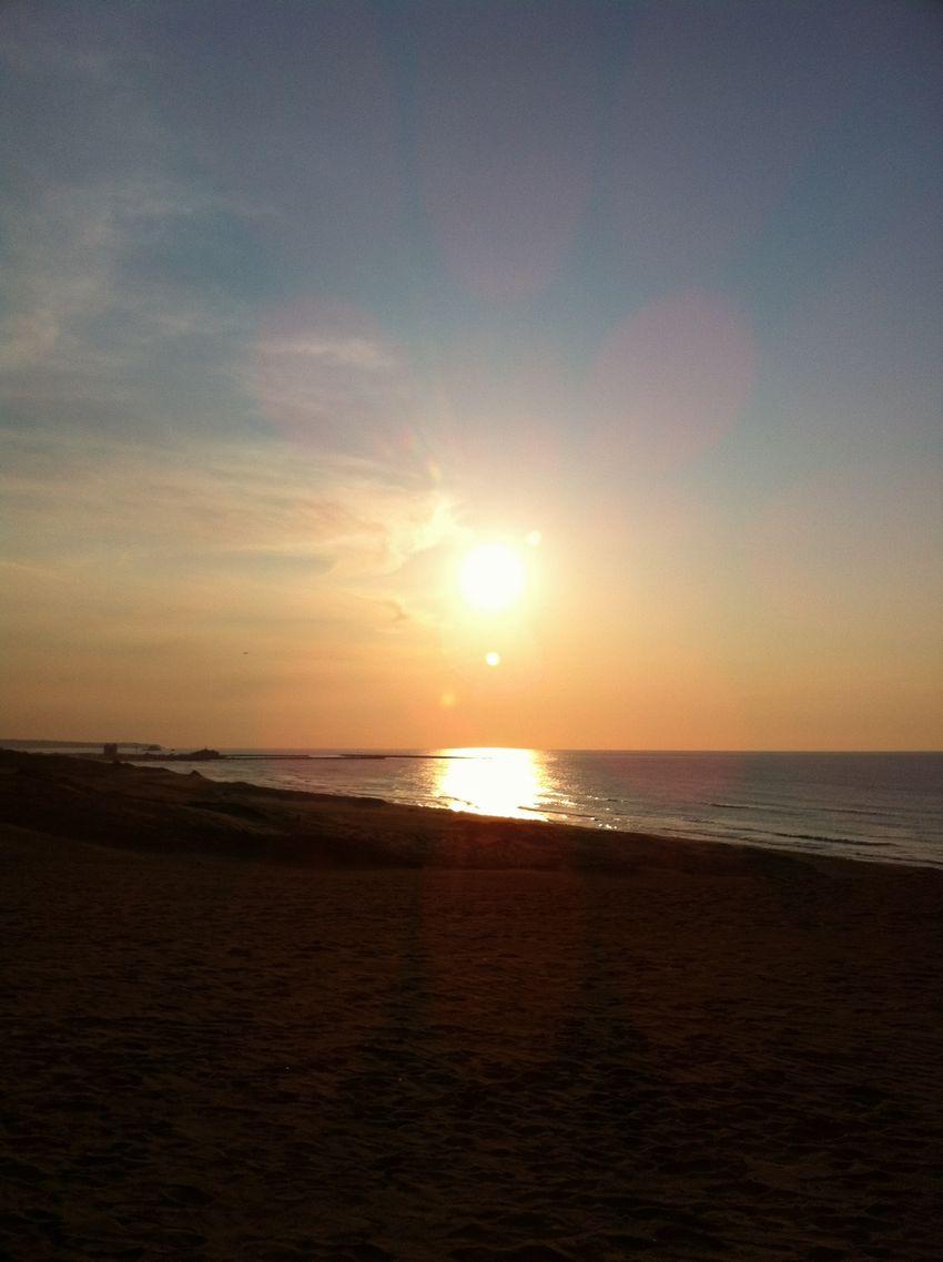 1日の締めくくりを飾った美しい夕日