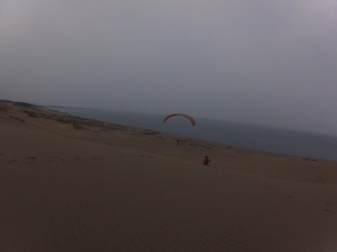 砂丘横断フライト