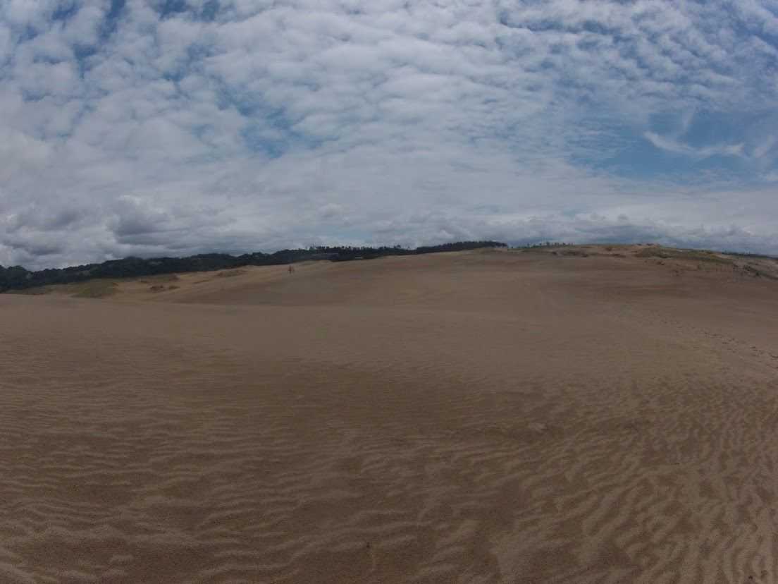 涼しく過ごせた鳥取砂丘