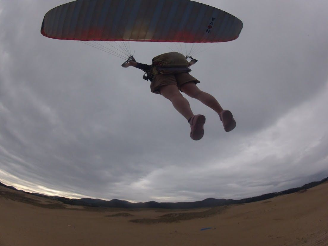 砂丘パラグライダー