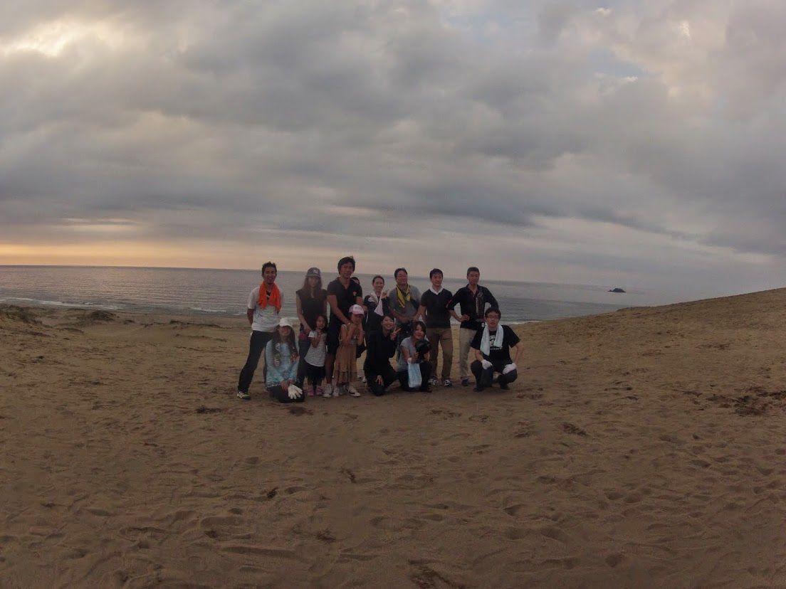 夕方砂丘パラグライダー