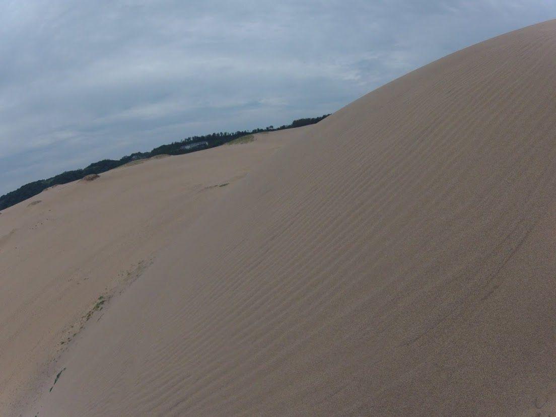 曇り空の鳥取砂丘