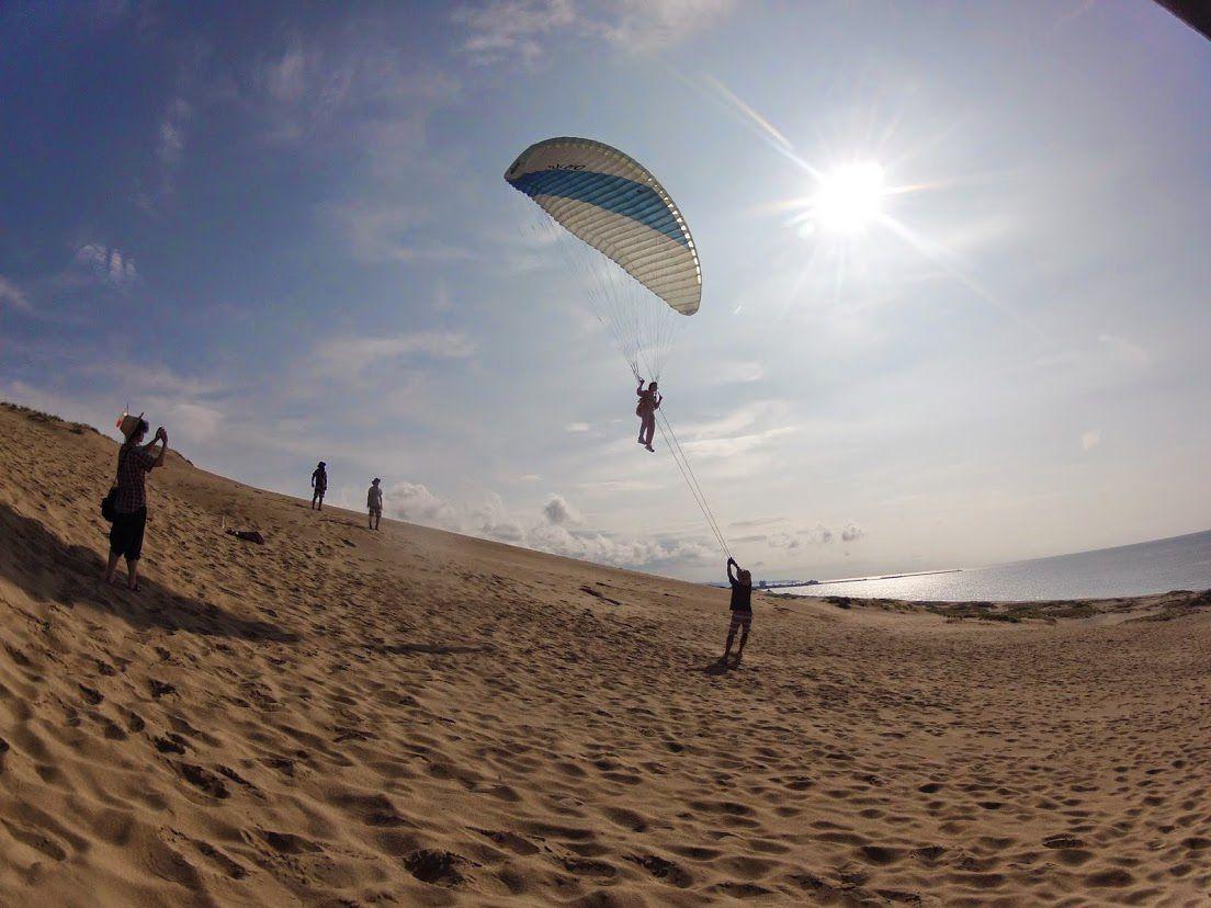 ことるりガール砂丘パラグライダー
