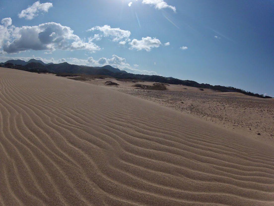 日本晴れ鳥取砂丘