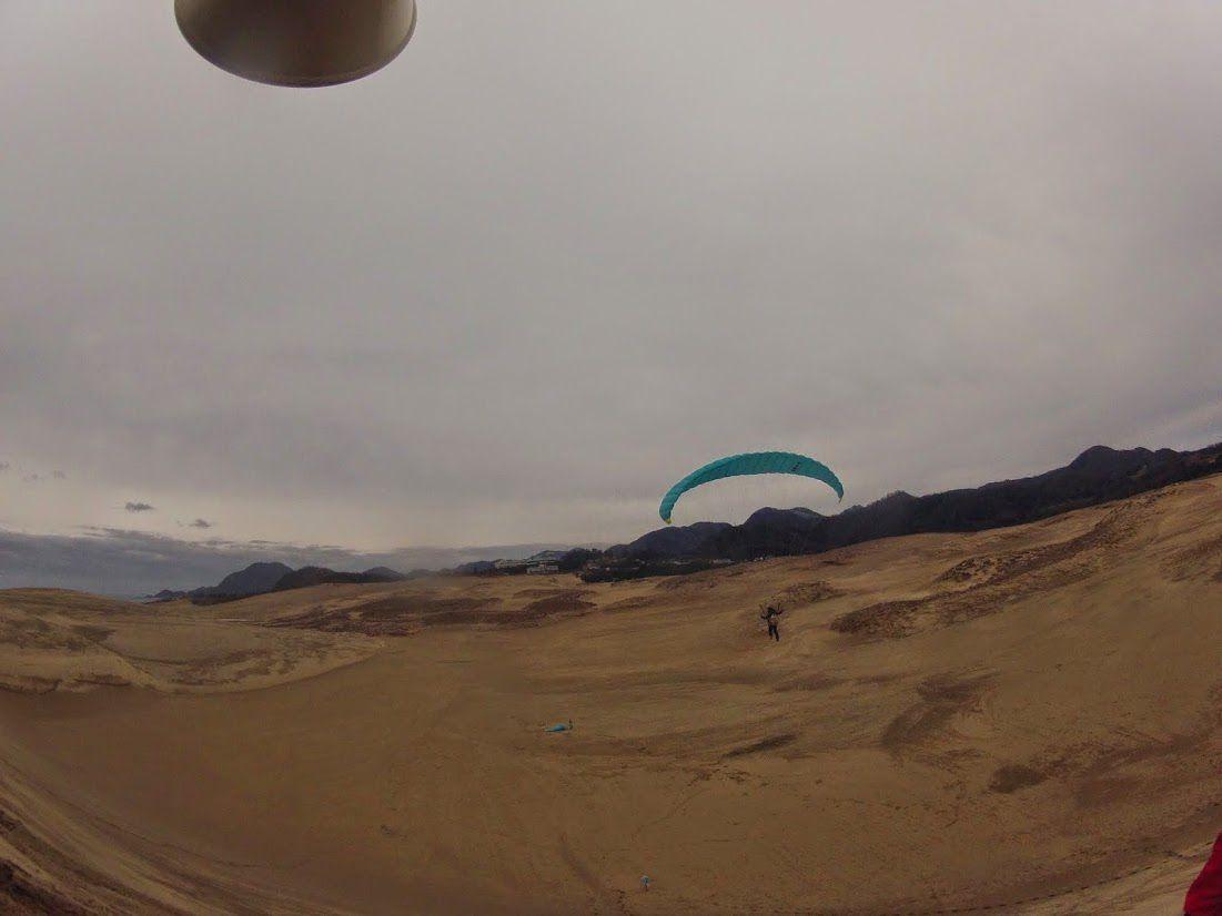 砂丘の空をたっぷり感じてもらい