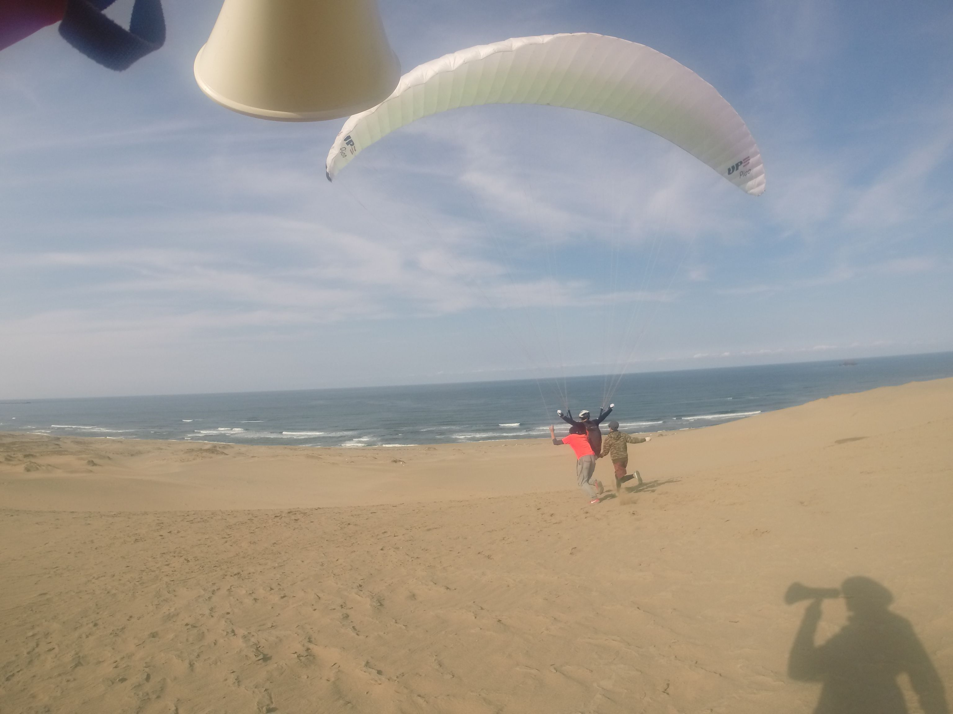 鳥取砂丘の大空間に向かってレッツテイクオフ
