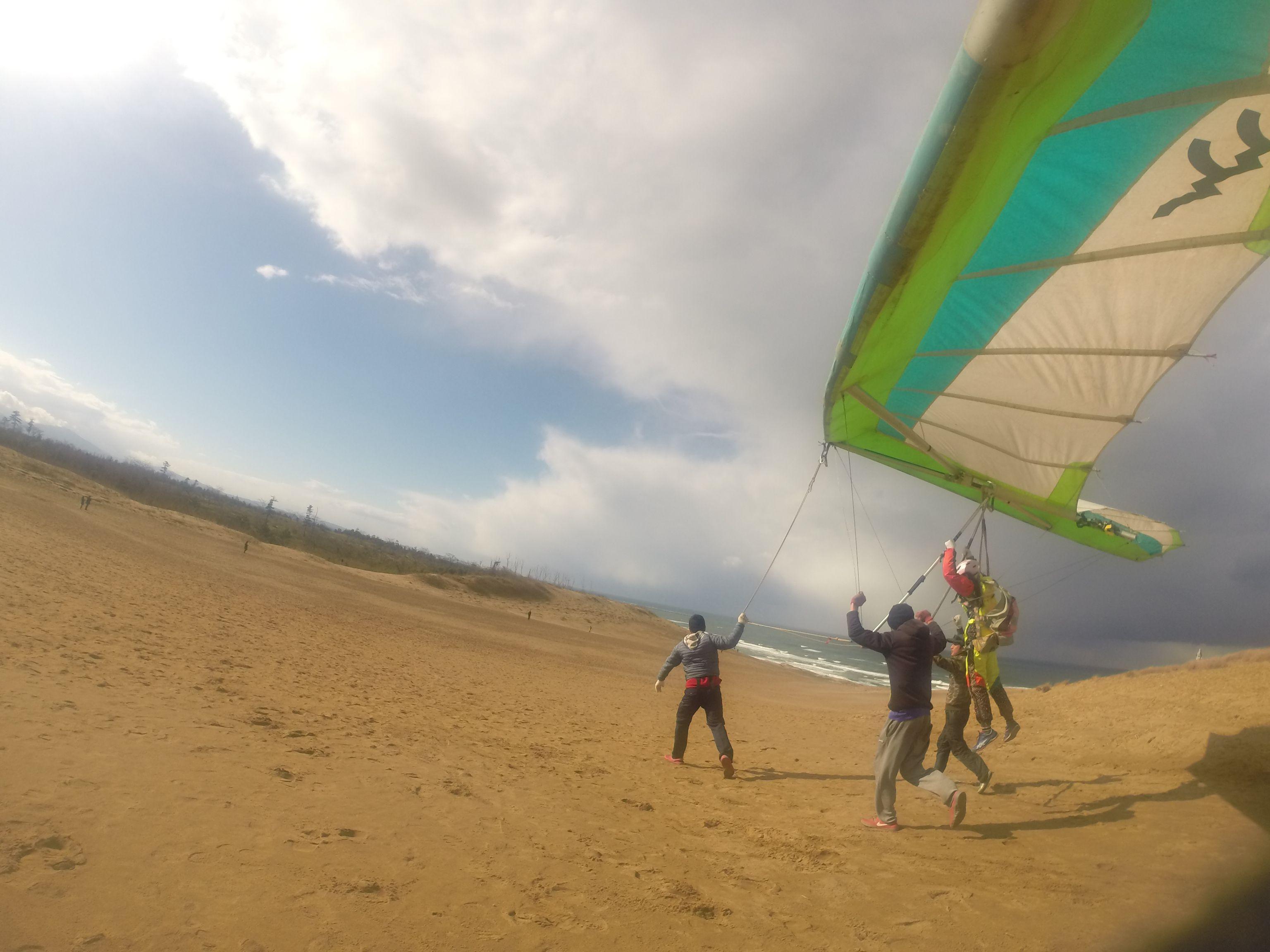 初めてのハンググライダーでそっと空へ