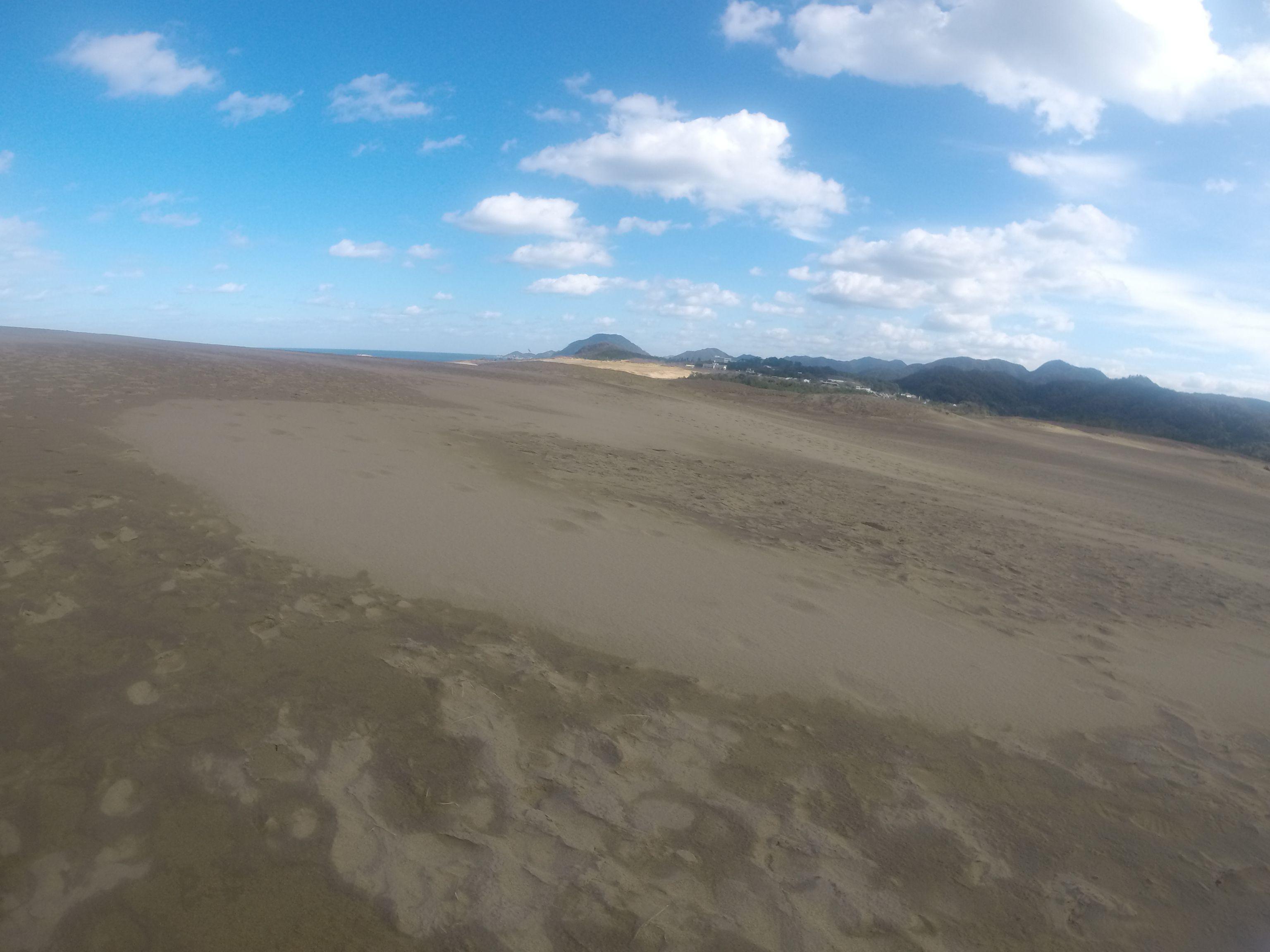 昨日から一転して気持ちよく晴れた鳥取砂丘