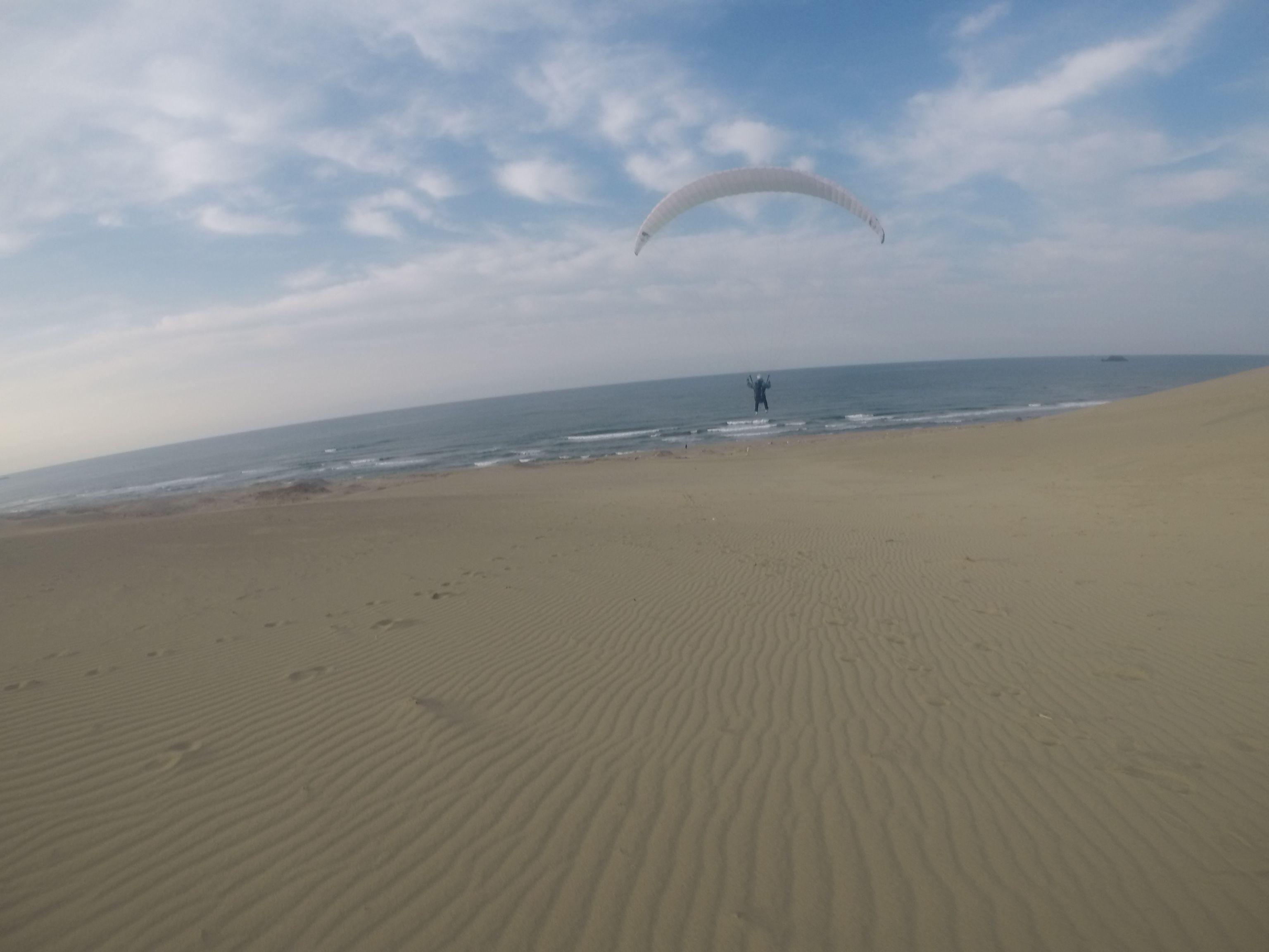 風紋を飛び越えながら、爽快に空へ