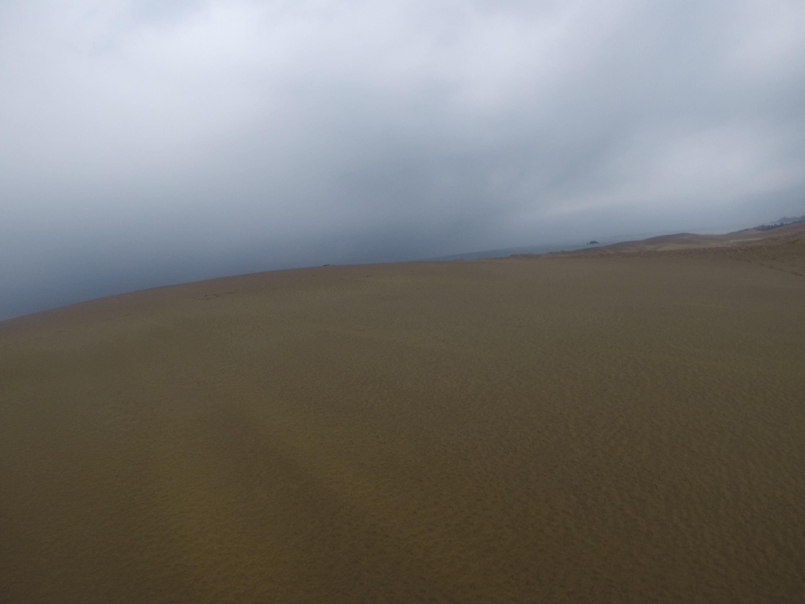 油断していると、すぐに降ってくる鳥取砂丘
